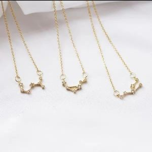 CAPRICORN GOLD CRYSTAL CONSTELLATION NECKLACE 🌸